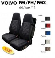 Coprisedili OLD STYLE Ecopelle Trapuntato per Camion VOLVO FH FM FMX dal 2013 in poi