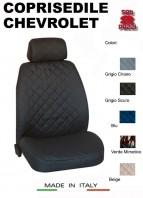 Coprisedili Anteriore in Cotone per Sedile Auto CHEVROLET con AIRbag mod. TEAM 2Pz.