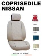 Coprisedili Anteriore in Cotone per Auto NISSAN con AIRbag mod. GRIFFE 2Pz.