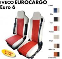 Ricamo EUROCARGO rosso IVECO EUROCARGO Coppia Schienali Coprisedili Universali