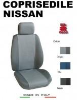 Coprisedili Anteriore Tessuto in Cotone Traspirante per Auto NISSAN con AIRbag mod. PREMIUM 2Pz.