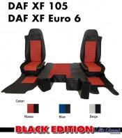 Kit Cabina 2 Coprisedili + Tappeti + Copricofano su Misura per Camion DAF XF105, XF Euro6