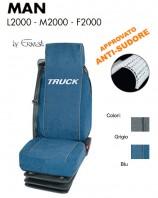 Coprisedile in Microfibra Traspirante AntiSudore AIRTECH per Camion MAN L2000 M2000 F2000