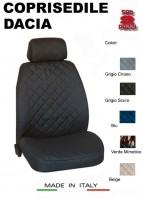 Coprisedili Anteriore in Cotone per Sedile Auto DACIA con AIRbag mod. TEAM 2Pz.