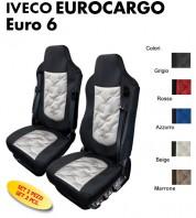 Coprisedili OLD STYLE Ecopelle Trapuntato per Camion IVECO EUROCARGO Euro 6 Sedile Guida High Comfort