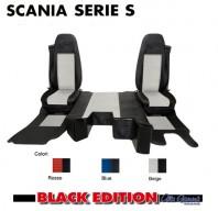 Kit Cabina 2 Coprisedili + Tappeti + Copricofano su Misura per Camion SCANIA Serie S