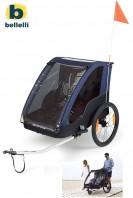 Carrello Bici Posteriore Trasporto Bimbi con Accessorio Passeggino