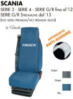 Coprisedili 2 PEZZI in Microfibra Traspirante AntiSudore AIRTECH per Camion SCANIA Serie 3 Serie 4 Serie G e R