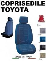 Coprisedili Anteriore in Microfibra Protezione Completa per Auto TOYOTA con AIRbag mod. TECHNO 2Pz.