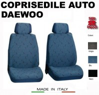 Fodere Coprisedile Anteriori in Cotone per Auto DAEWOO 2Pz.