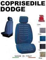 Coprisedili Anteriore in Microfibra Protezione Completa per Auto DODGE con AIRbag mod. TECHNO 2Pz.