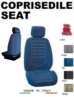 Coprisedili Anteriore in Microfibra Protezione Completa per Auto SEAT con AIRbag mod. TECHNO 2Pz.