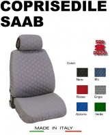 Coprisedili Anteriore in Cotone Trapuntato Super Resistente per Auto SAAB con AIRbag SPEED 2Pz.
