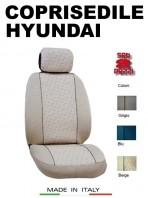 Coprisedili Anteriore in Cotone per Auto HYUNDAI con AIRbag mod. GRIFFE 2Pz.
