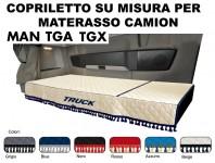Copriletto su Misura per Materasso Cabina Camion MAN TGA, MAN TGX