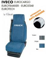 Coprisedile in Microfibra Traspirante AntiSudore AIRTECH per Camion IVECO EUROCARGO EUROTECH EUROTRAKKER EUROSTAR
