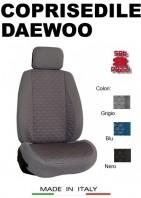 Coprisedili Anteriore Tessuto in Cotone Trapuntato per Auto DAEWOO con AIRbag mod. TURBO 2Pz.