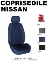 Coprisedili Anteriore in Cotone Extra Resistente per Auto NISSAN con AIRbag POLE POSITION 2Pz.