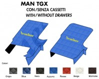 Copricofano Copertura Cofano Trucker Ecopelle su Misura per Camion MAN TGX con o senza Cassetti