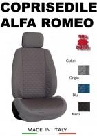 Coprisedili Anteriore Tessuto in Cotone Trapuntato per Auto ALFA ROMEO con AIRbag TURBO 2Pz.