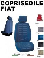 Coprisedili Anteriore in Microfibra Protezione Completa per Auto FIAT con AIRbag mod. TECHNO 2Pz.