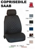 Coprisedili Anteriore in Cotone per Sedile Auto SAAB con AIRbag mod. TEAM 2Pz.