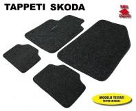 Tappeti in Moquette 4 Pz. EXCLUSIVE per Auto SKODA