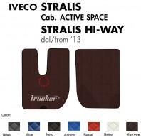 Tappeti su Misura Trucker in Ecopelle per Camion per IVECO STRALIS Cabina Active Space e Hi-Way