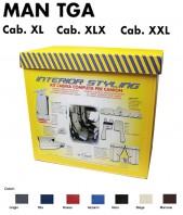 Kit Interno Cabina Completo su Misura per Camion MAN TGA Cabina XL - XLX - XXL