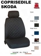 Coprisedili Anteriore per Sedile Auto SKODA con AIRbag TEAM 2Pz.
