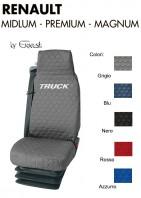 Coprisedile Singolo in Cotone Trapuntato per Camion Renault MIDLUM, PREMIUM, MAGNUM