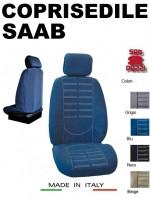 Coprisedili Anteriore in Microfibra Protezione Completa per Auto SAAB con AIRbag mod. TECHNO 2Pz.