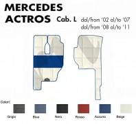 Tappeti su Misura per Camion Mercedes ACTROS Cabina L con/senza Sedile SFO