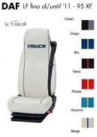 Coprisedile Singolo in Ecopelle e Microfibra Camion DAF LF fino al 2011 e 95XF