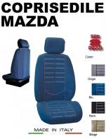 Coprisedili Anteriore in Microfibra Protezione Completa per Auto MAZDA con AIRbag mod. TECHNO 2Pz.