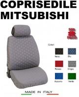 Coprisedili Anteriore in Cotone Trapuntato Super Resistente per Auto MITSUBISHI con AIRbag SPEED 2Pz.
