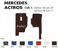 Tappeti su Misura Trucker in Ecopelle per Camion Mercedes ACTROS Cabina L con/senza Sedile SFO