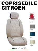 Coprisedili Anteriore in Cotone per Auto CITROEN con AIRbag mod. GRIFFE 2Pz.