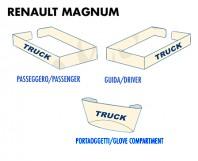 Coprisupporti Sedile (guida+passeggero+ Portaoggetti) per Camion Renault MAGNUM