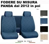 Coprisedili Set Completo in Cotone per FIAT Panda dal 2012 in poi