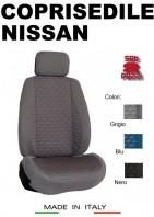 Coprisedili Anteriore Tessuto in Cotone Trapuntato per Auto NISSAN con AIRbag mod. TURBO 2Pz.