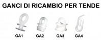 Ganci Ricambio per Tende da Camion By Ernest 75 Pz.
