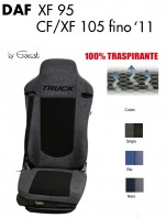 Coprisedile in Microfibra Traspirante 3D AntiSudore AIRPLUS per Camion DAF XF95 CF e XF 105 fino al 2011