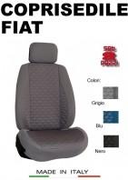 Coprisedili Anteriore Tessuto in Cotone Trapuntato per Auto FIAT con AIRbag mod. TURBO 2Pz.
