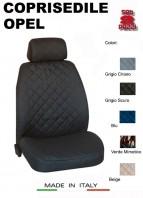 Coprisedili Anteriore in Cotone per Sedile Auto OPEL con AIRbag mod. TEAM 2Pz.