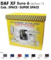 Kit Interno Cabina Completo su Misura per Camion DAF XF Euro 6 Cabina Space e Super Space