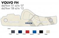 Copricruscotto Copertura Cruscotto su misura per Camion VOLVO FH dal 2001 al 2012