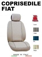 Coprisedili Anteriore in Cotone per Auto FIAT con AIRbag mod. GRIFFE 2Pz.