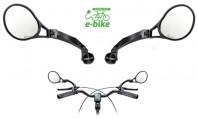 Specchio Bici e-bike Orientabile Tondo Destro + Sinistro