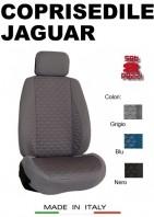Coprisedili Anteriore Tessuto in Cotone Trapuntato per Auto JAGUAR con AIRbag TURBO 2Pz.